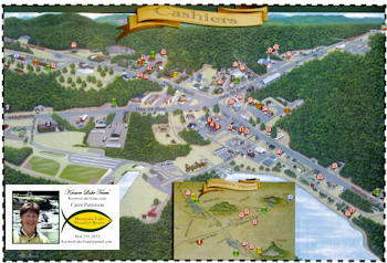 Map of Cashiers, NC