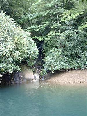 Small waterfall on Lake Jocassee