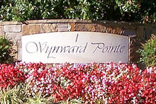 Wynward Pointe entrance sign